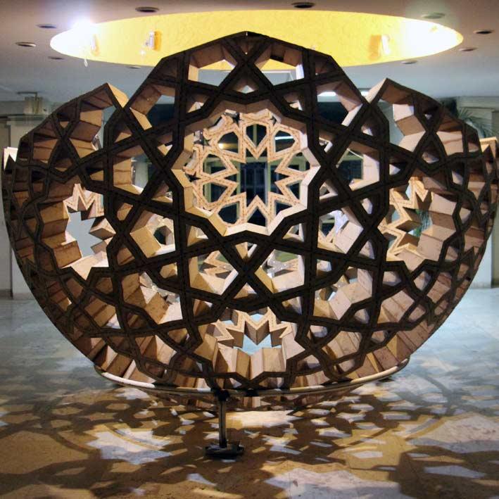 Algorithmic Design of Islamic Parquet   تبدیل گره کند 10 به تند 10 روی سطح کره
